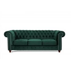 Sofa do salonu pikowana Chesterfield DIANA