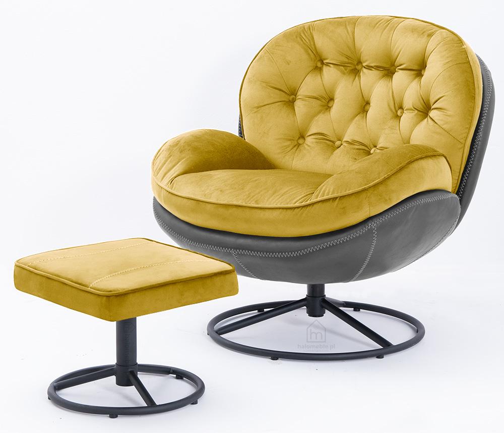 fotel wypoczynkowy żółty