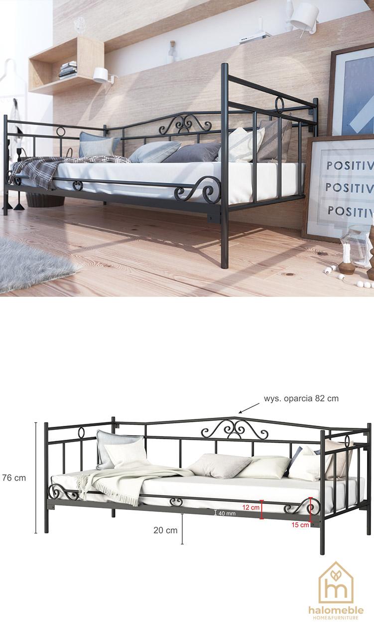 łóżko sofa metalowe
