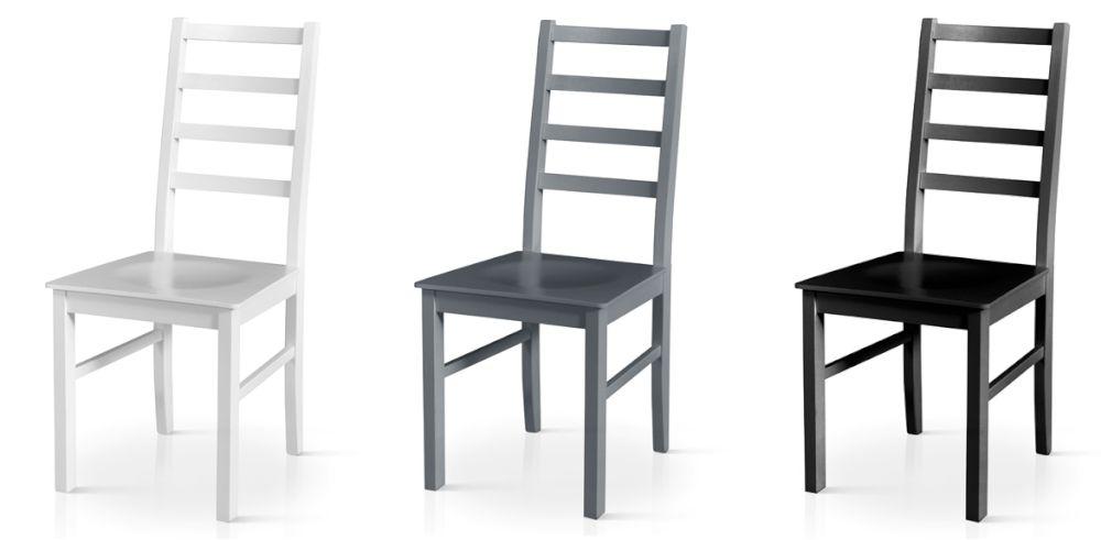 krzesła z drewna kolor szary