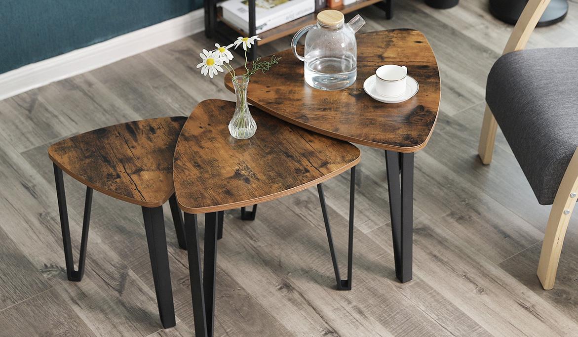 zestaw stolików loftowych