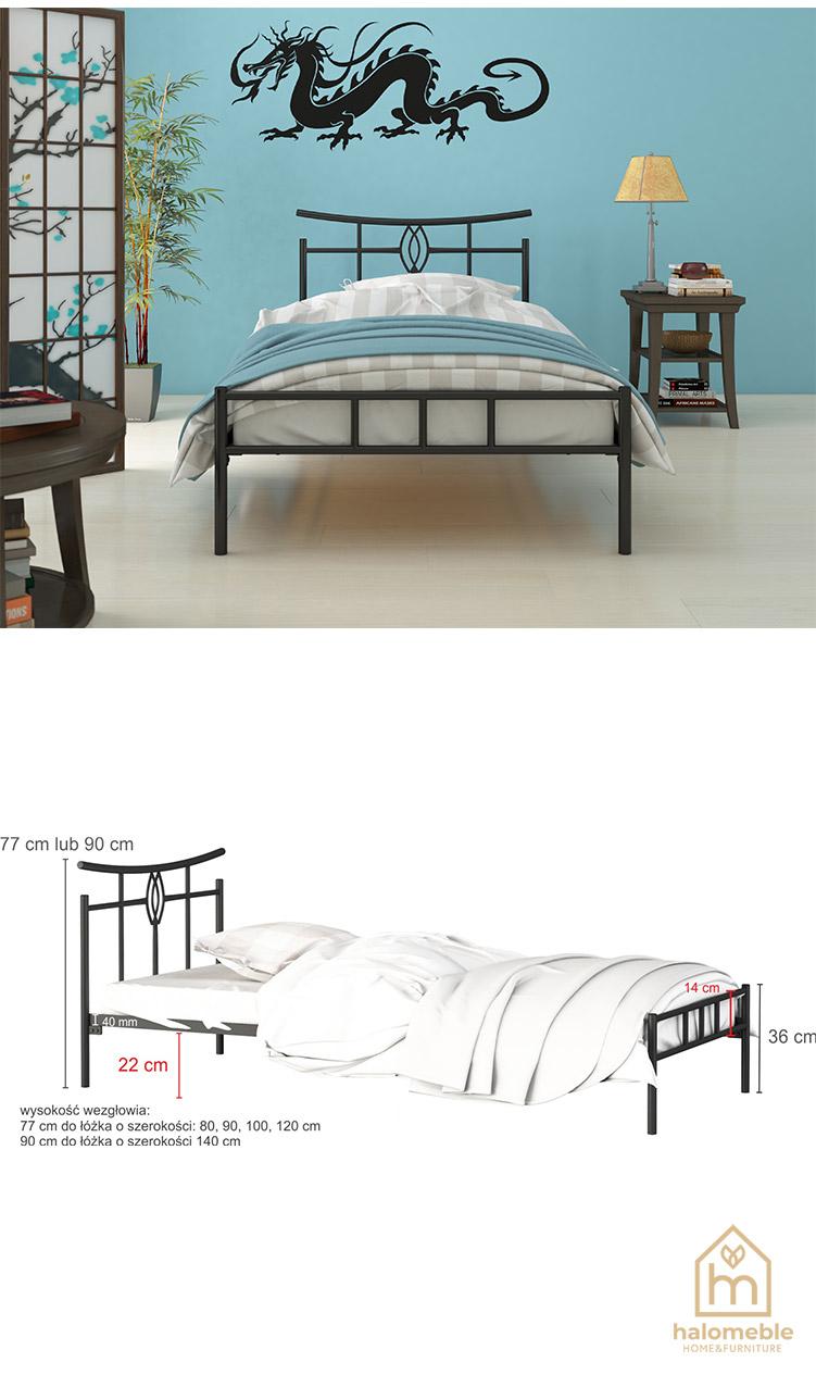 łóżko metalowe loft
