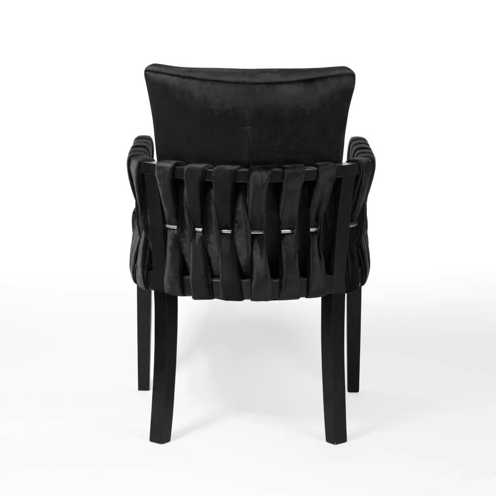 krzesło elis tapicerowane czarne