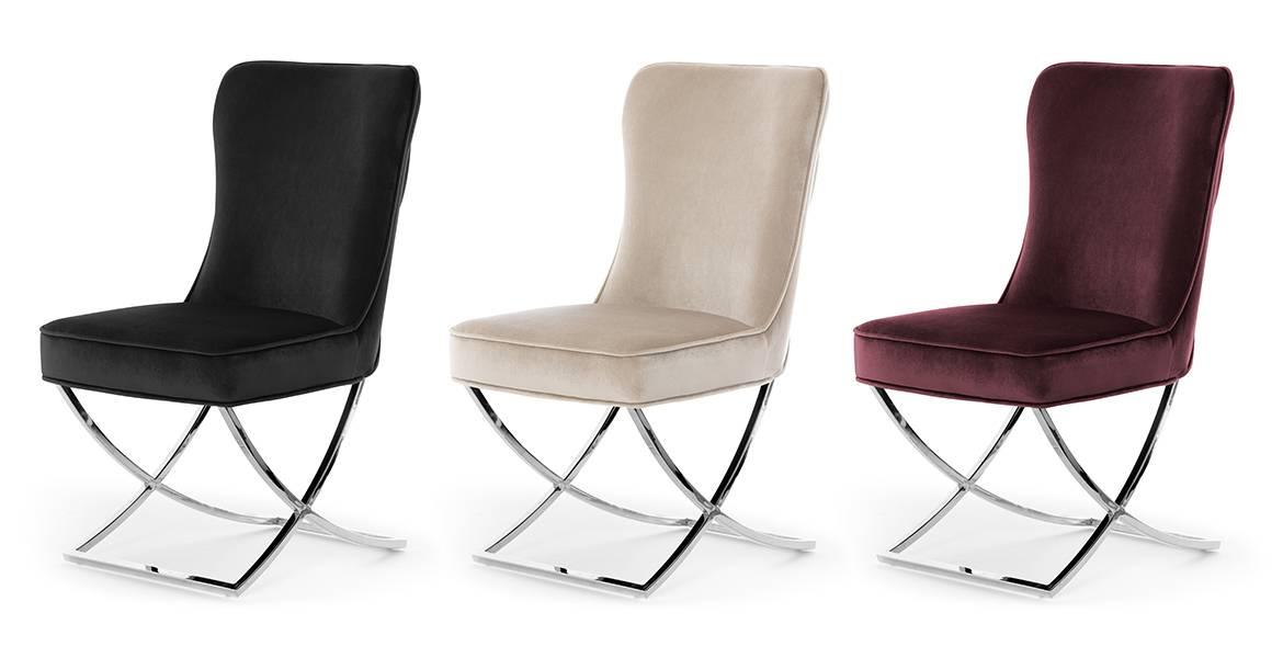 krzesło scarlett na srebrnej nodze