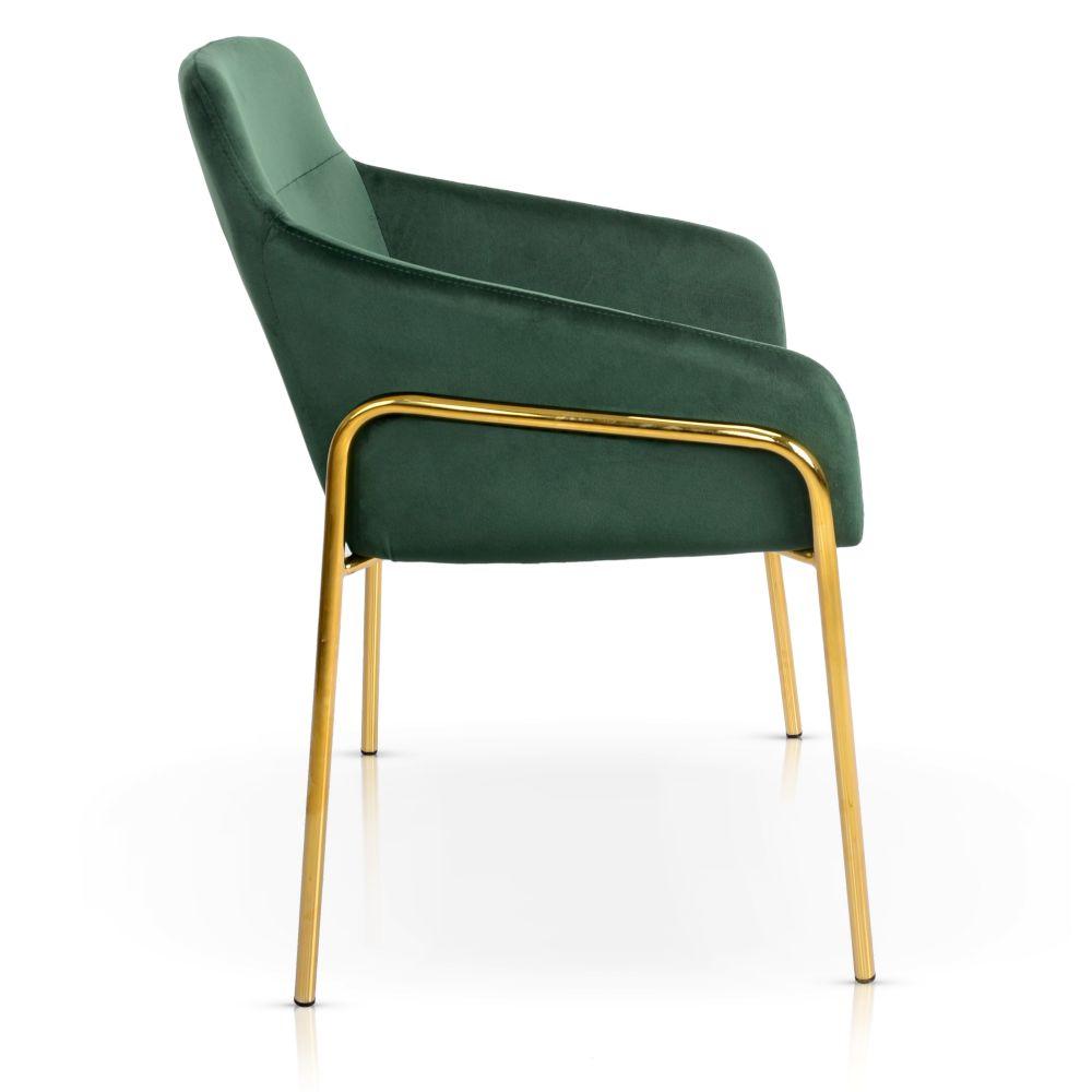 krzesło welurowe na złotych nóżkach