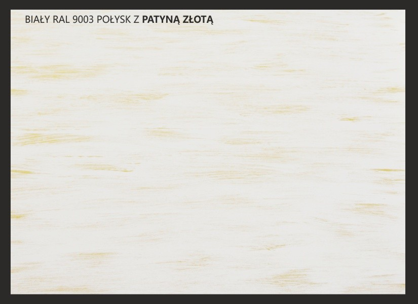 patyna złoty + biały